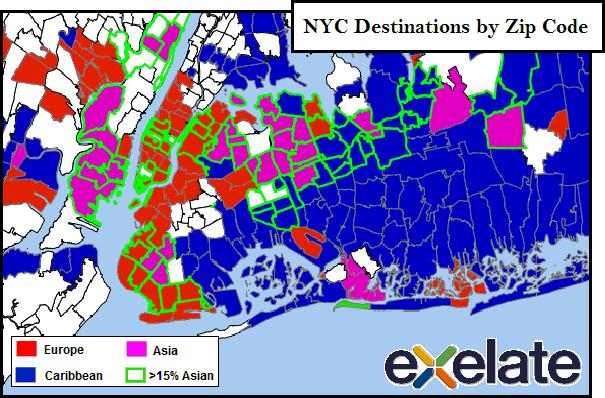 exelate map nyc zip